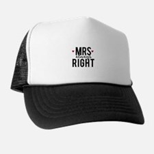 Mrs. always right text design with red hearts Truc