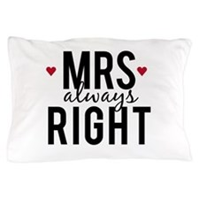 Mrs. always right text design with red hearts Pill