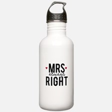Mrs. always right text design with red hearts Wate