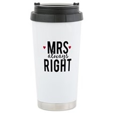 Mrs. always right text design with red hearts Trav