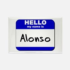 hello my name is alonso Rectangle Magnet