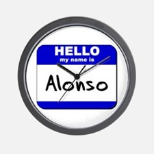 hello my name is alonso  Wall Clock