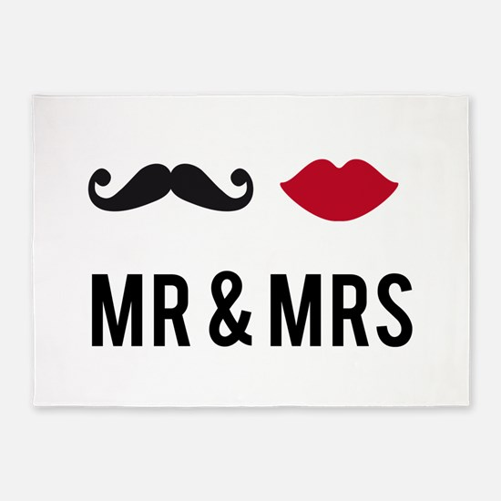 Mr. and Mrs. 5'x7'Area Rug