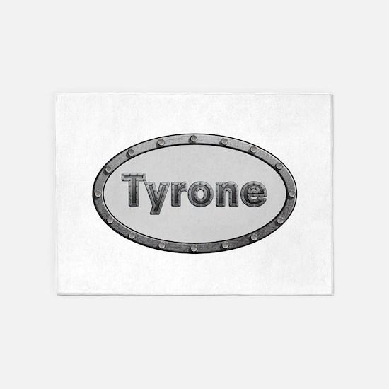 Tyrone Metal Oval 5'x7'Area Rug
