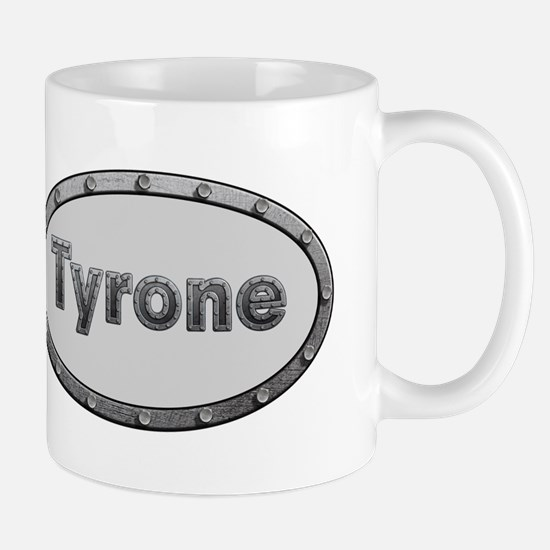 Tyrone Metal Oval Mugs