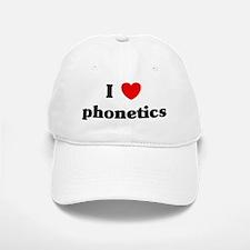 I Love phonetics Baseball Baseball Cap