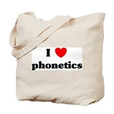 I Love phonetics Tote Bag