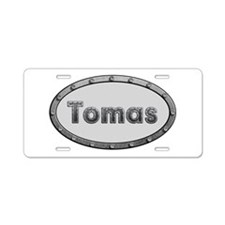 Tomas Metal Oval Aluminum License Plate