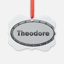 Theodore Metal Oval Ornament
