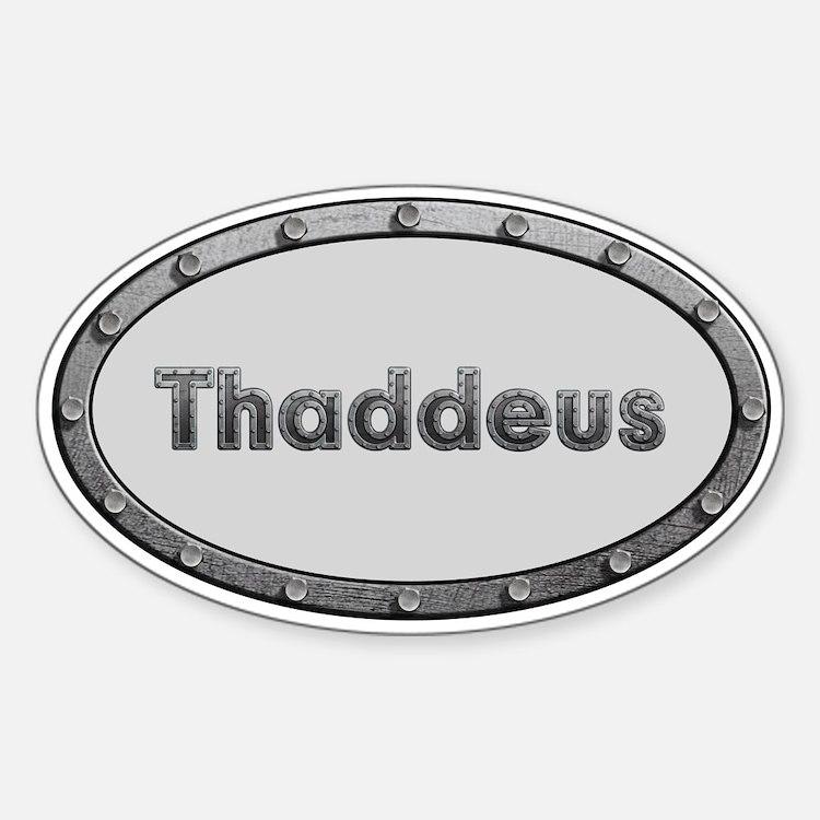 Thaddeus Metal Oval Decal