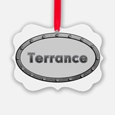 Terrance Metal Oval Ornament