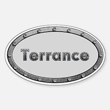 Terrance Metal Oval Decal