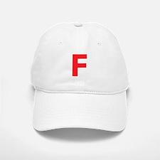 Letter F Red Baseball Baseball Baseball Cap
