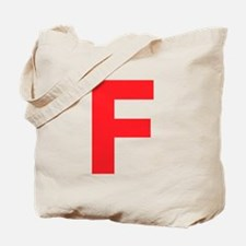 Letter F Red Tote Bag