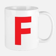 Letter F Red Mugs