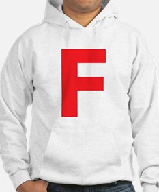 Letter F Red Hoodie