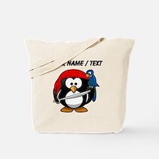 Custom Pirate Penguin Tote Bag