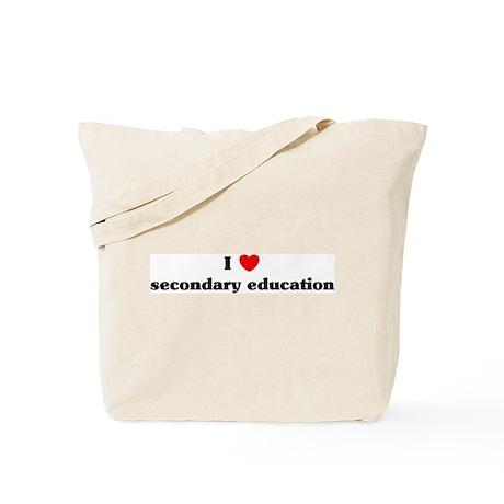 I Love secondary education Tote Bag