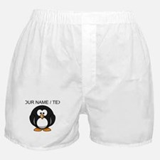 Custom Cartoon Penguin Boxer Shorts