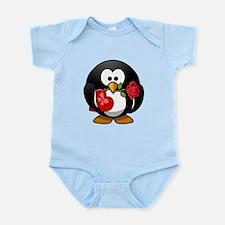 Valentines Day Penguin Body Suit