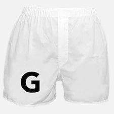 Letter G Black Boxer Shorts
