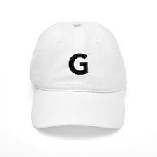 Letter G Black Baseball Baseball Cap