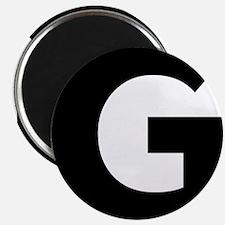 Letter G Black Magnets