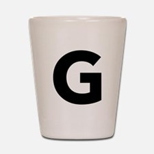 Letter G Black Shot Glass