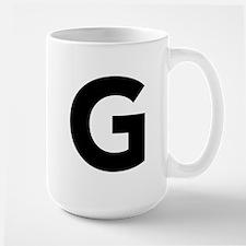Letter G Black Mugs