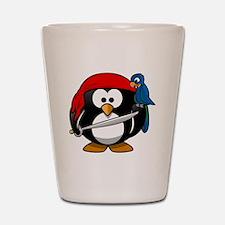 Pirate Penguin Shot Glass
