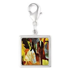 Franz Marc - People by the La Silver Square Charm