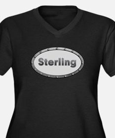 Sterling Metal Oval Plus Size T-Shirt