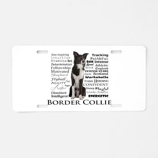 Border Collie Traits Aluminum License Plate