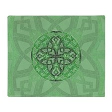 Celtic Clover Mandala Throw Blanket
