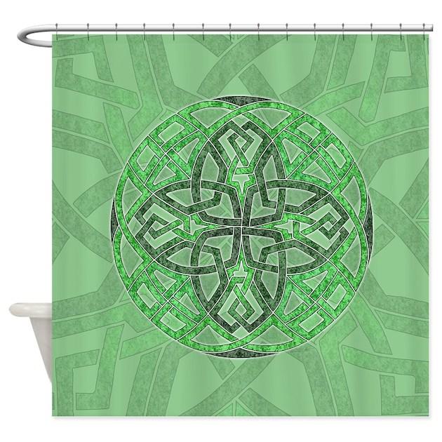 Celtic Clover Mandala Shower Curtain By Artoffoxvox