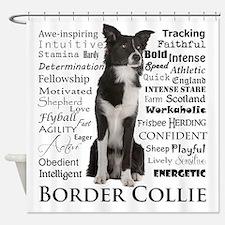 Border Collie Traits Shower Curtain