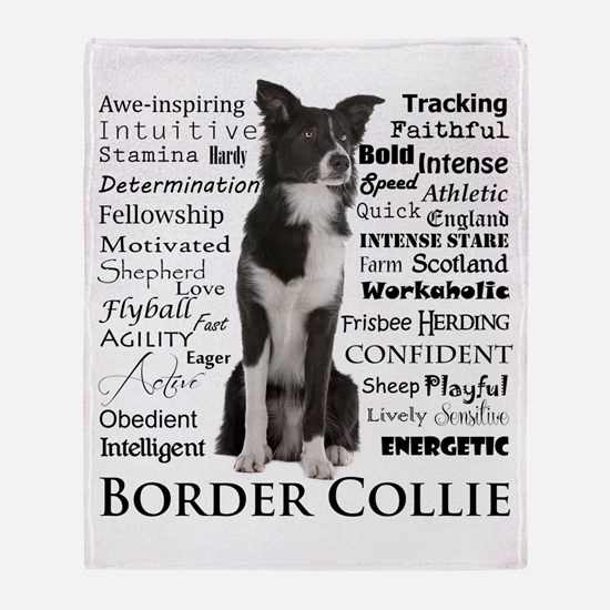 Border Collie Traits Throw Blanket