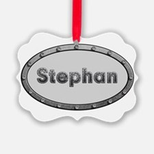 Stephan Metal Oval Ornament