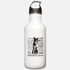 Border Collie Traits Water Bottle
