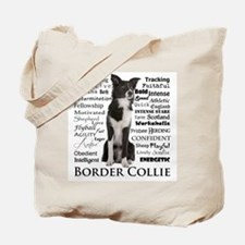 Border Collie Traits Tote Bag