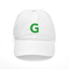 Letter G Green Baseball Baseball Cap