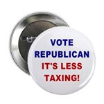 Button: Vote Republican, It's Less Taxing