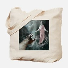 Jesus Walks On The Water Tote Bag