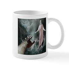 Jesus Walks On The Water Mugs