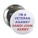 Button (10 pack):I'm a Veteran Against Hanoi John