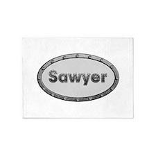 Sawyer Metal Oval 5'x7'Area Rug