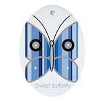 Sweet butterfly Oval Ornament