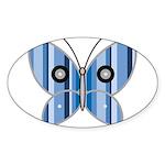 Sweet butterfly Oval Sticker