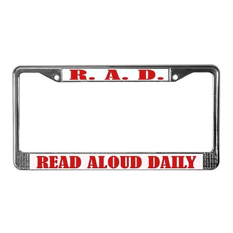 Read Aloud License Plate Frame