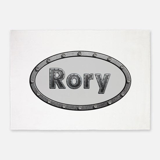 Rory Metal Oval 5'x7'Area Rug